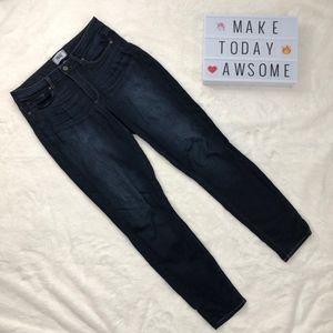 Paige Dark Wash Hoxton Ankle Jeans